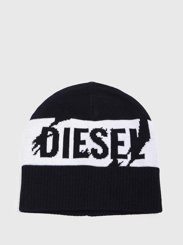 Diesel - Gorro de Punto - para Hombre Negro Blanco y Negro: Amazon.es: Ropa y accesorios