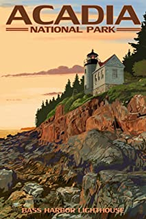 product image for Acadia National Park, Maine - Bass Harbor Lighthouse (16x24 Giclee Gallery Print, Wall Decor Travel Poster)