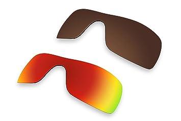 2 pares lentes polarizadas de recambio para Oakley Batwolf color rojo y marrón gafas de sol