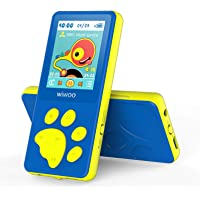 "Wiwoo MP3 Player for Kids, Portable Music Player with FM Radio Video Games Sleep Timer Voice Recorder, 1.8"" LCD Screen…"