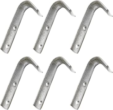 Troon/&Co 4 Pack of Heavy Duty Medium Rope Hook Chassis Cargo Tie Downs for Trailers Horse Box Trucks HGV ATV