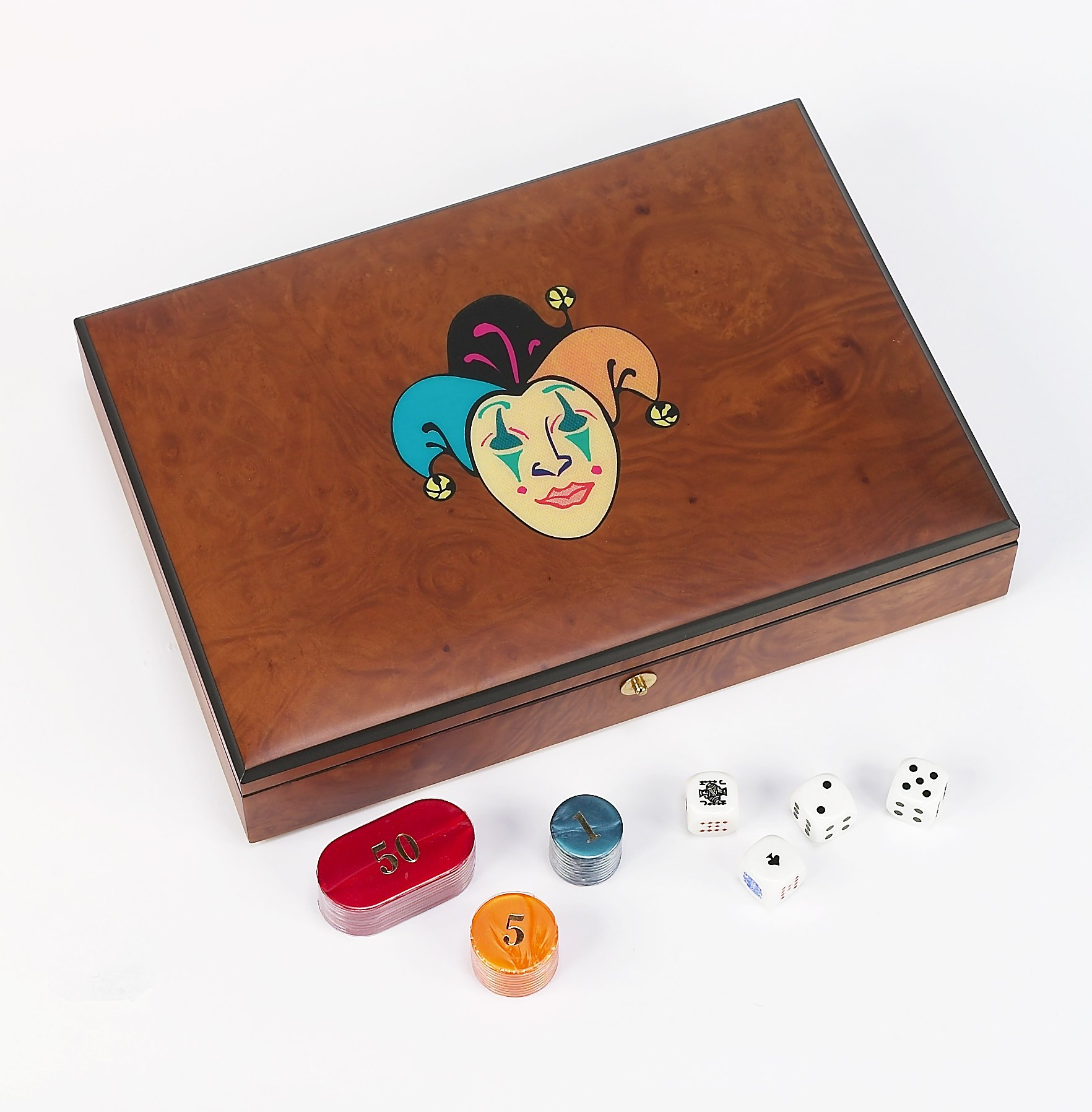 Bello Games Collezioni - Marsala Poker Chips and Card Set From Italy by Bello Games New York, Inc.