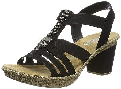 45510f3521e9 Rieker 66506-00, Sandales Bout fermé Femme: Amazon.fr: Chaussures et ...