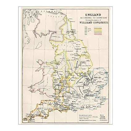 Map Of Uk 1066.Media Storehouse 10x8 Print Of Map Of England In 1066