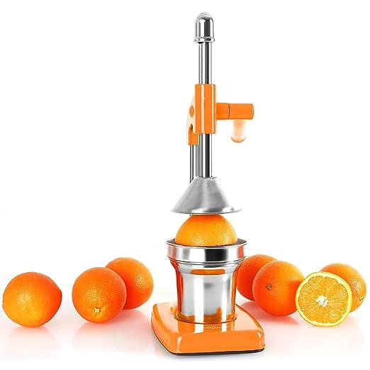 OneConcept Ecojuicer Exprimidor de naranjas Manual • A palanca • Exprime zumos • Funciona sin electricidad • Piezas extraíbles aptas lavavajillas • Fácil ...
