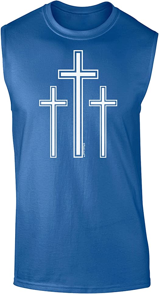TooLoud Happy Easter with Cross Toddler T-Shirt Dark