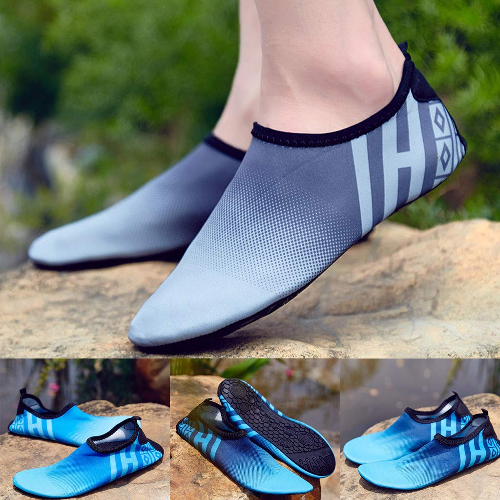 Amazon.com | Coco-Z 2019 New Summer Leisure Water Sports Mens Shoes Barefoot Quick-Dry Aqua Yoga Socks Slip-On Yoga | Water Shoes