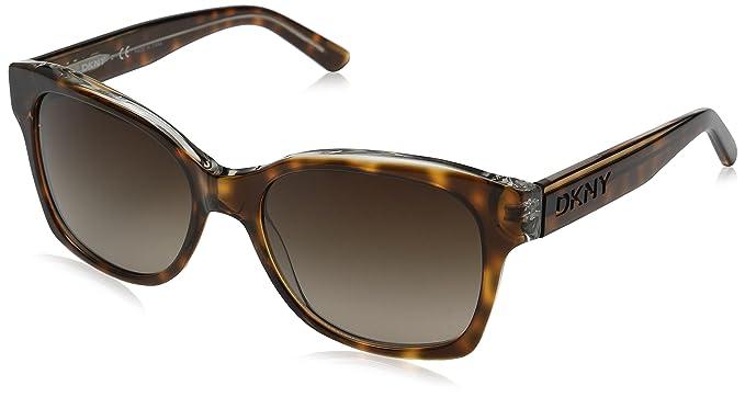 18538e79a92d Amazon.com: DKNY Women's 0DY4132 Square Sunglasses, Dark Tortoise, 55 mm:  Clothing