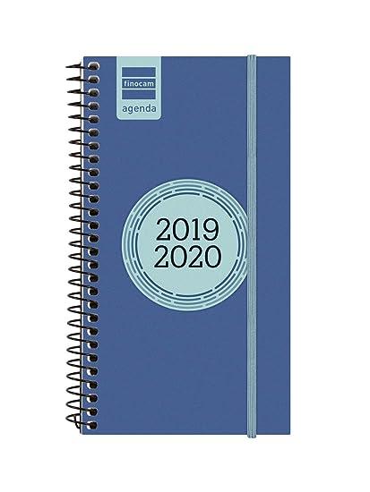 Finocam - Agenda 2019-2020 semana vista apaisada español Espir Label Azul Cobalto