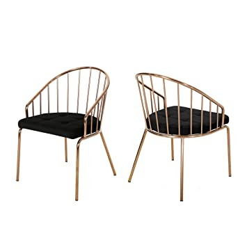Amazon.com: Marcia Moderna silla de comedor de terciopelo ...