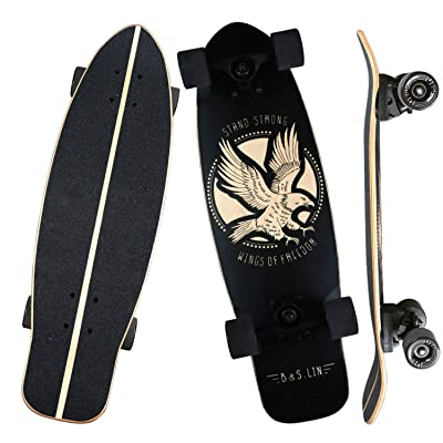 "B&S.LIN 27.5 ""x 8"" Skateboard is a Versatile Skateboard That You can Ride Around and do Stunts with. Complete Assembled Cruiser Board Set.Best Bang for Your Buck(Matte) : Sports & Outdoors"