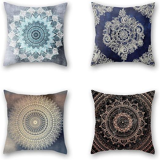 Bohemian Mandala Linen Throw Pillow Case Floor Cushion Covers Home Bed Decor Lot