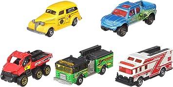 Mattel - C1817 Matchbox Pack de 5 vehículos del desierto, coches ...