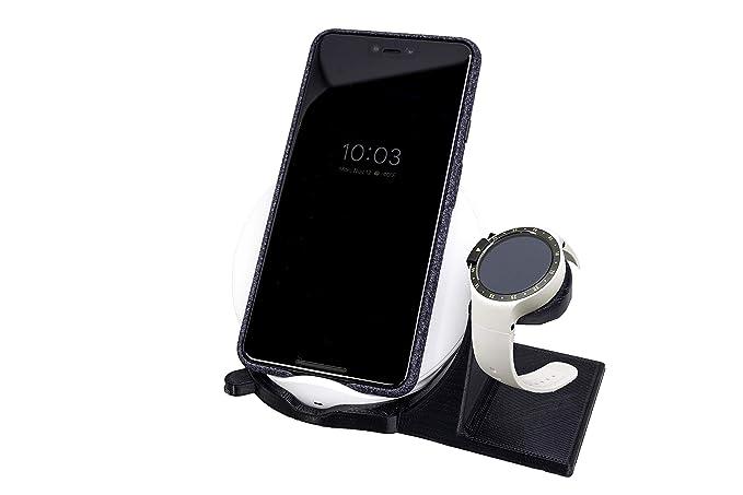 Artifex Design Stand Configured for Ticwatch E + S Smartwatch, Charging Stand, Artifex Charging Dock Stand for Tic Watch E + S Smartwatch (Wireless ...
