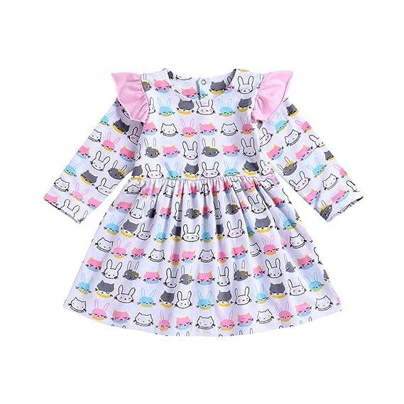 Vestidos Niña, ASHOP Vestido de Niñas Boda Fiesta de Princesa en Oferta Casual Conejo Imprimir