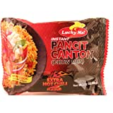 Lucky Me Instant Pancit Canton Extra Hot Chili Flavor (Instant Chow Mien Extra Hot Chili Flavor) - 2.12oz (Pack of 30)