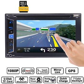 EinCar Radio para coche (doble DIN, estéreo, Bluetooth, pantalla ...