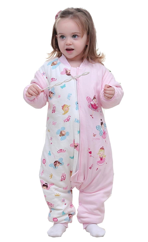 Baby Winter KinderSchlafsack mit Beinen Kleinkind Soft abnehmbar Langarm