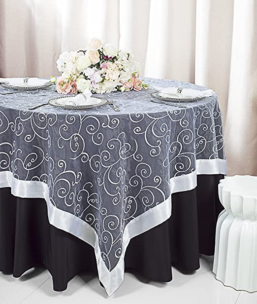 54 X 108 Rectangular Organza Sheer Table Overlays Toppers Tablecloths Cover Linens For Wedding Party Banquet Events Inc Gold Kitchen Dining Brilliantpala Org