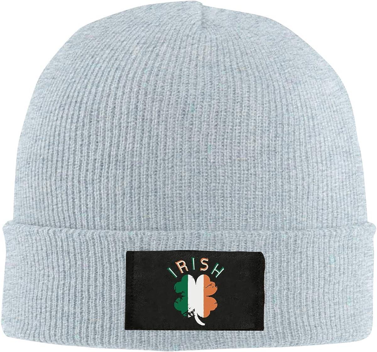 BF5Y6z/&MA Unisex Irish Flag Shamrock Knitted Cap 100/% Acrylic Daily Beanies Cap