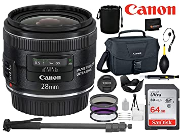 Amazon com : Canon EF 28mm f/2 8 is USM Lens with