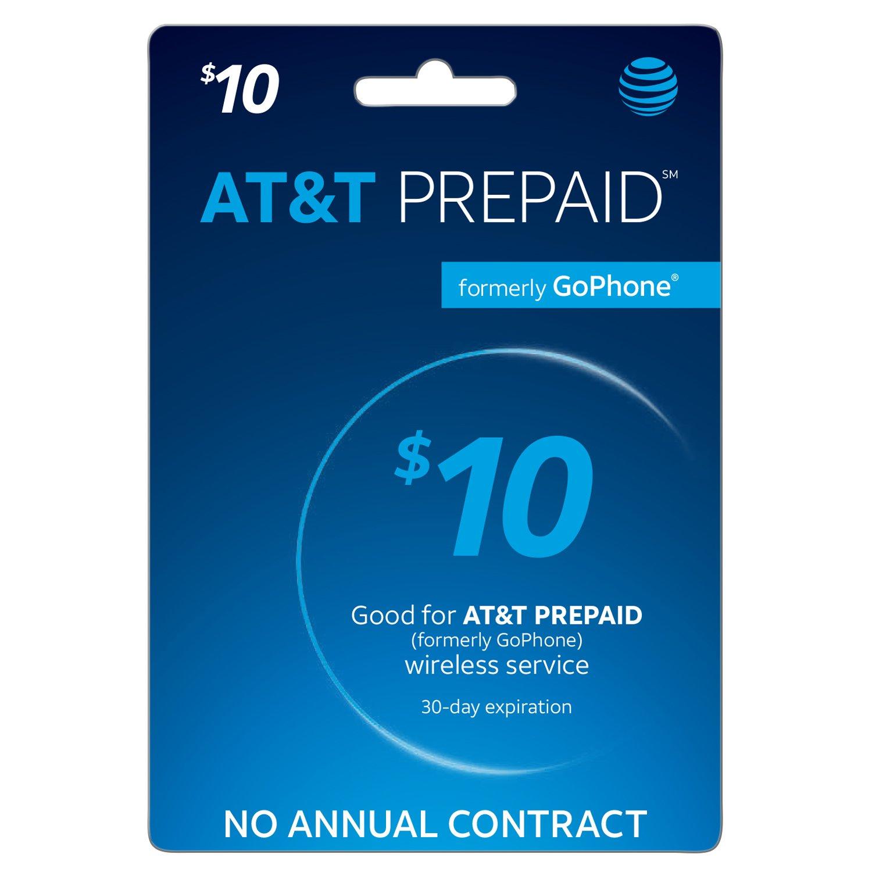 AT&T Prepaid $10 Refill Card