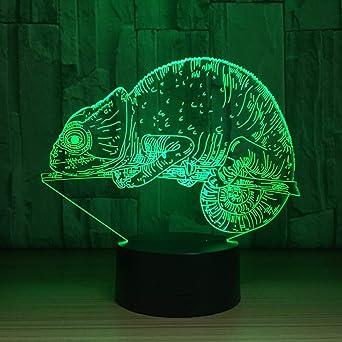 7 Cambio de color Chameleon 3D Illusion Night Light para niños ...