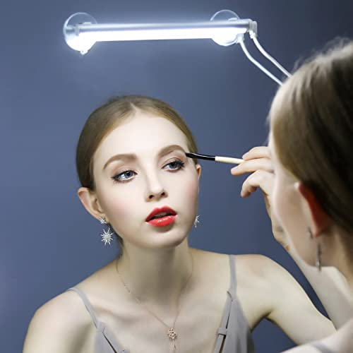 YOUKOYI Portable Make Up Light LED Mirror Light Vanity Bathroom Lighting Kit with UL-listed Power Adapter, Can be Powered by USB, 6000k White