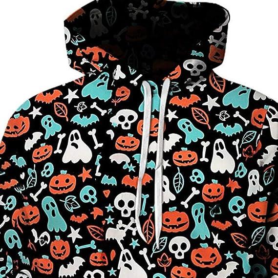 ZODOF ropa de halloween unisex sudaderas con capucha Manga ...