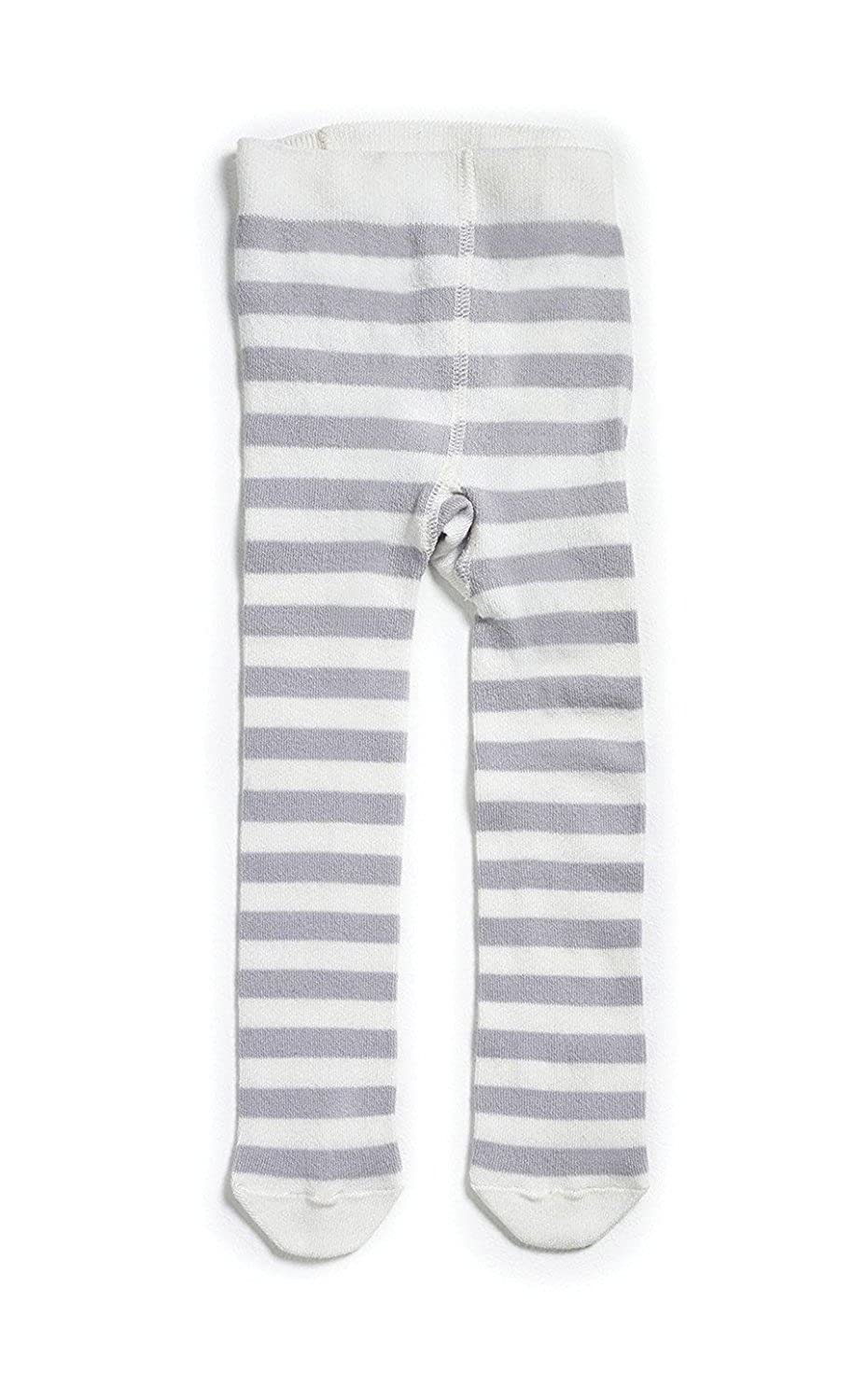 Natures Purest Grey & Cream Striped Tights - 0-6 Months