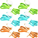 3 Pack LED Light Shoelaces, FineGood Nylon Shoes Laces with Four Flashing Modes for Dancing Cycling Running Hiking Skating Sport - Blue, Orange, Green