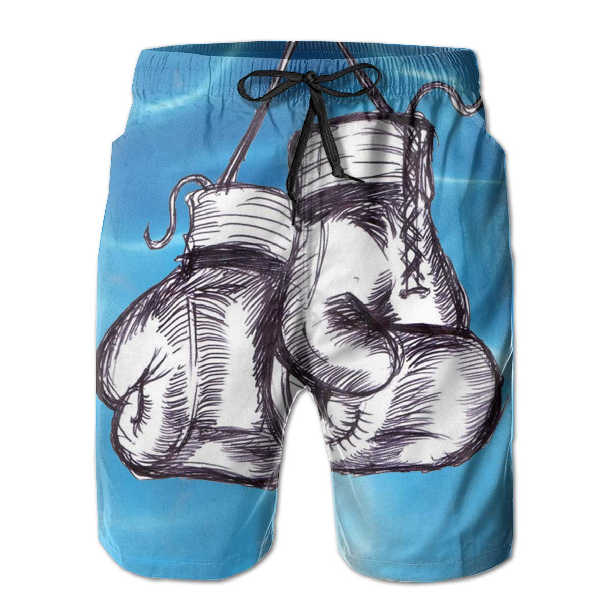 Oiyucv Mens Swim Trunks Boxing Gloves Quick Dry Board Shorts Bathing Suits Swimwear Volley Beach Trunks