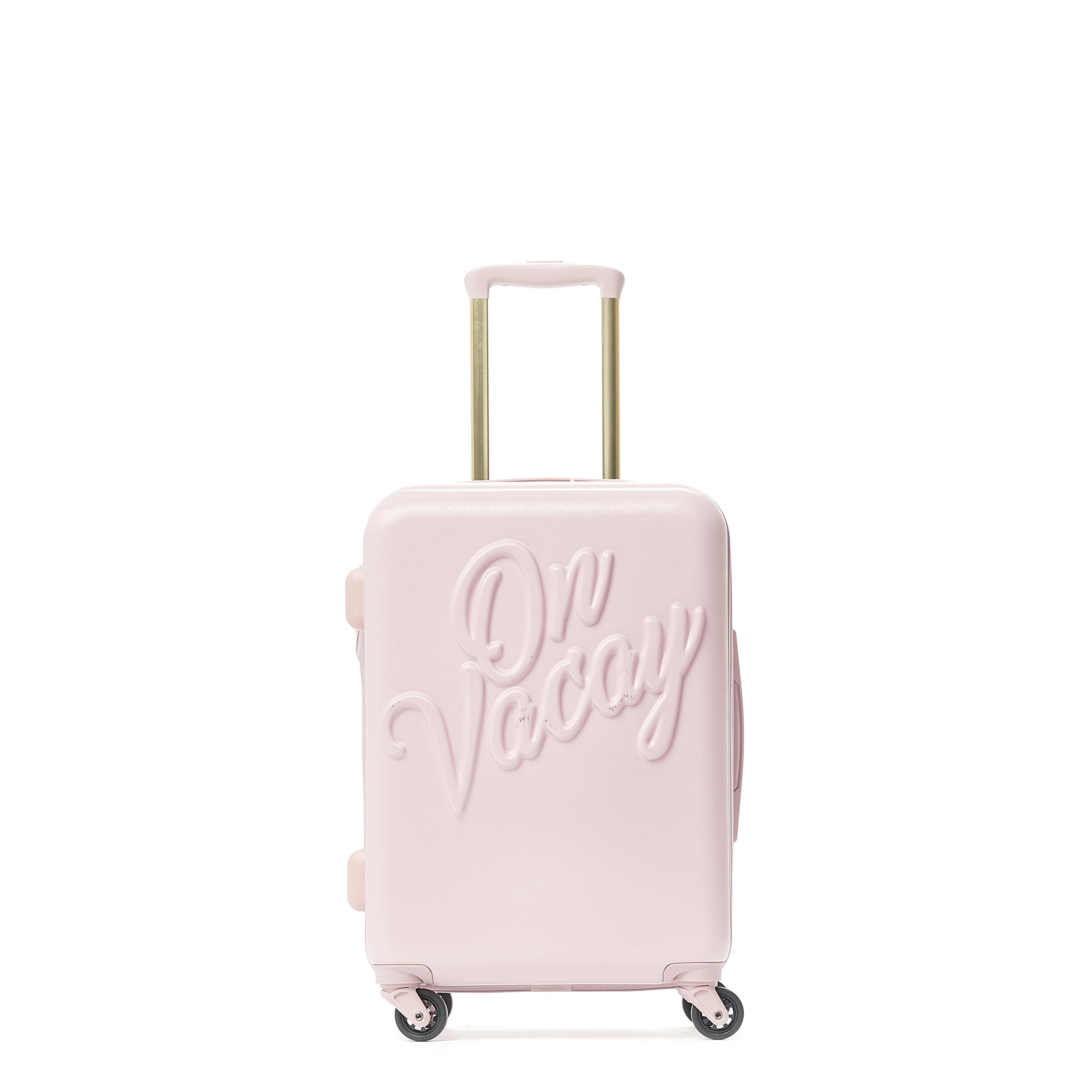 Macbeth On Vacay 21in Rolling Luggage Suitcase, Pink