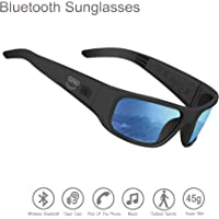 OhO Sunshine Polarized UV400 Protection Safety Lenses Open Ear Bluetooth Audio Sunglasses Compatible for All Smart Phones to Listen Music and Make Phone Calls