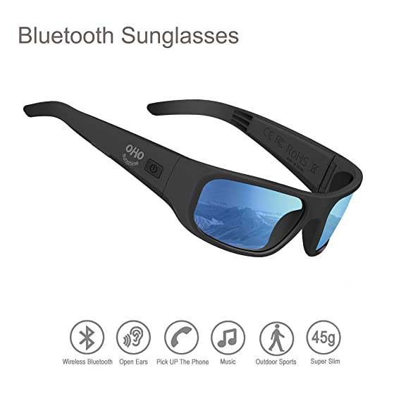 0130f00af759 Audio Sunglasses,Open Ear Bluetooth Sunglasses to Listen Music and Make  Phone Calls with Polarized