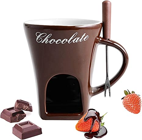 Chocolate Broth And More Meat YJYQ Premium Ceramic Chocolate Fondue Set For Cheese