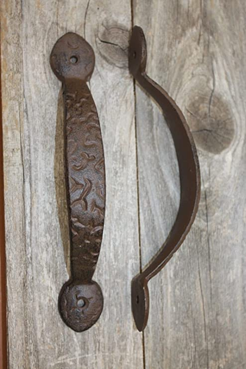 Rustic Vintage Romantic Antique Copper Hammered Metal Handle Drawer Pull