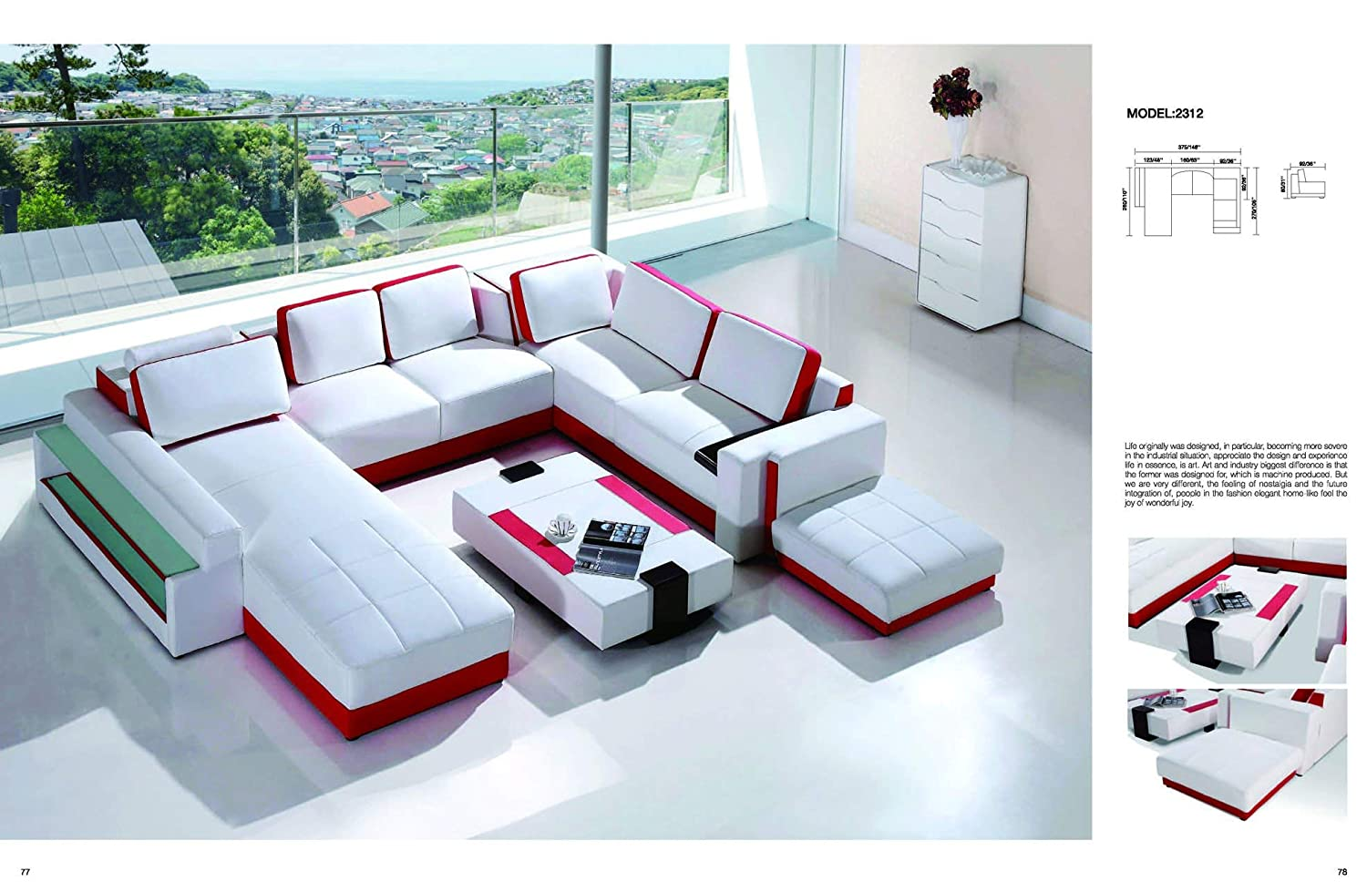 Amazon.com: My Aashis Luxury Vicenga White and Red Ultra ...