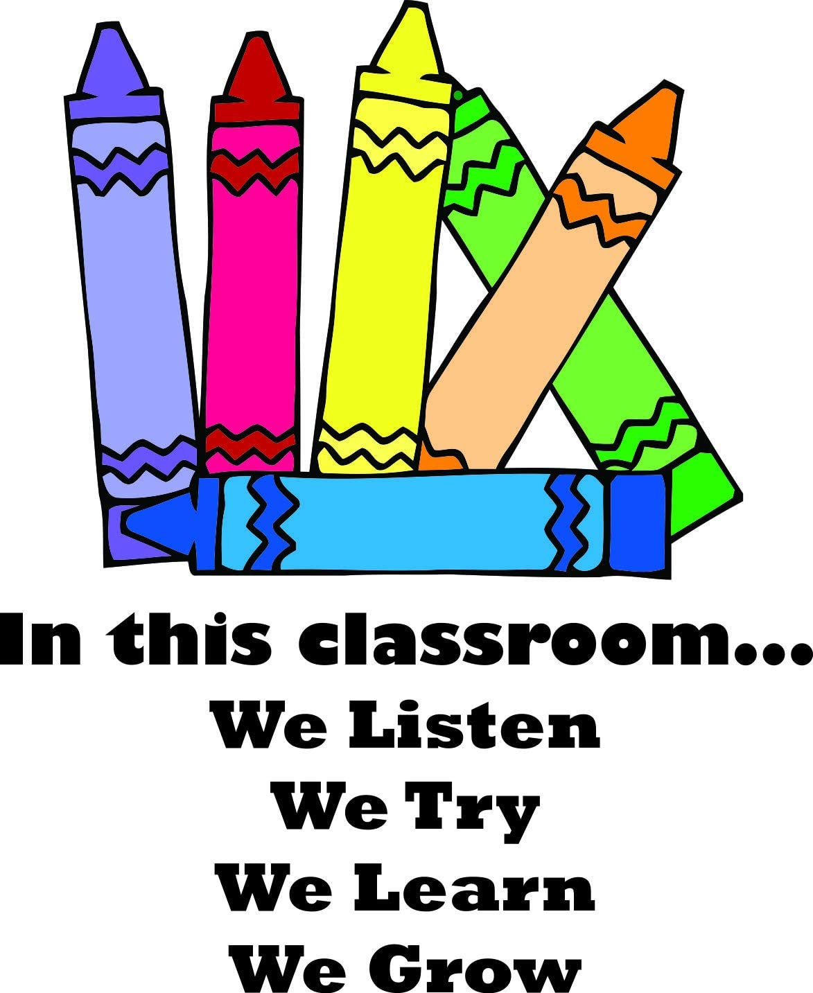 together Classroom wall decal School Wall vinyl decal Teacher Education wall decal Children are unique We are all a box of crayons DECAL