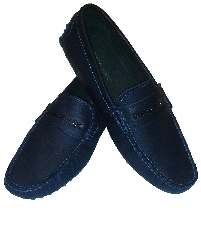 Versace Jeans - Mocasines de Piel para hombre azul Size: 43: Amazon.es: Zapatos y complementos
