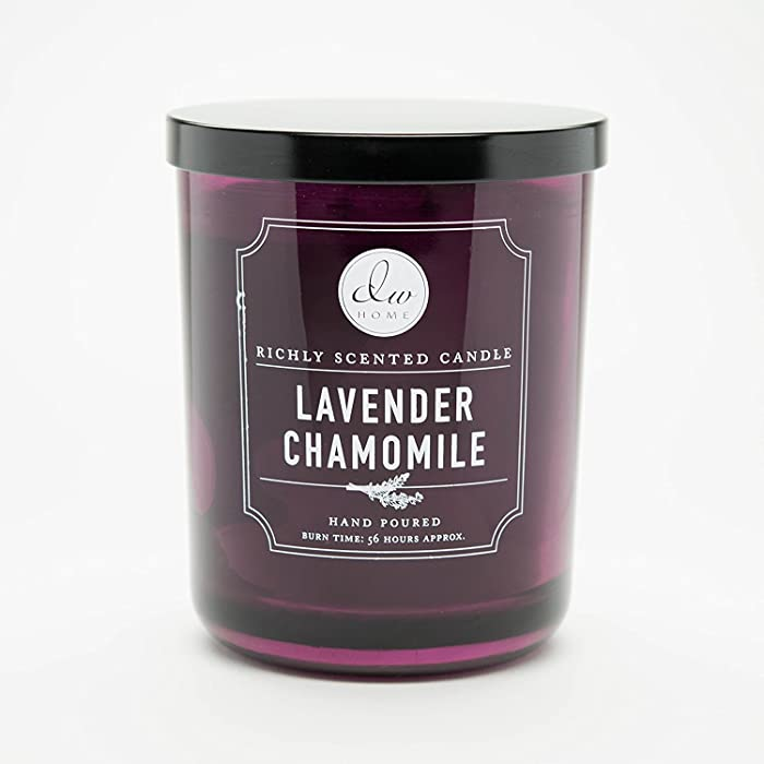 1 X Decoware Lavender Chamomile 2 Wick Candle in Glass Container