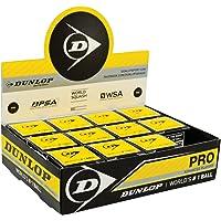Dunlop Pro - Paquete de pelotas de Squash (12 unidades)