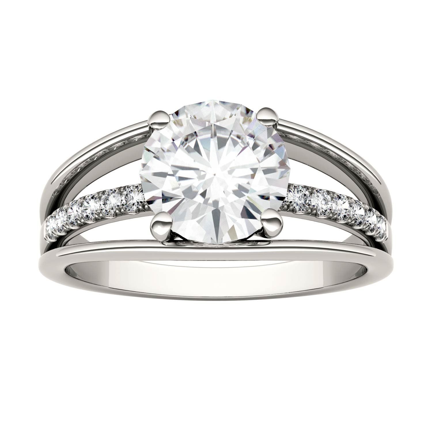 Forever Brilliant Round 8.0mm Moissanite Ring-size 8, 2.04cttw DEW By Charles & Colvard