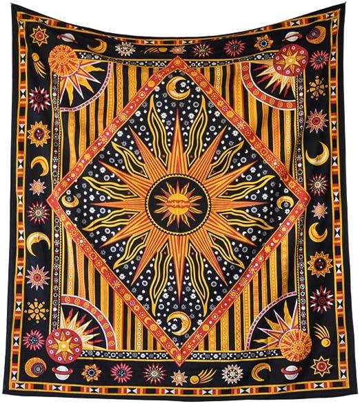 ZHIHUIflower Fondo de Tapiz de Mandala drapeado de algodón Decoración de la Pared Tapiz psicodélico Decoración del hogar, 2.0 * 1.4M: Amazon.es: Hogar