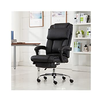office chair footrest. reclining leather ergonomic high back executive office chair footrest armchair (usa stock)