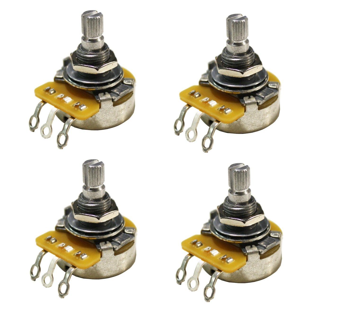 Shop Electric Guitar Electronic Parts Cts Pots Wiring Diagram Strat Set Of 4 4x 500k Short Split Shaft Audio Taper Potentiometers