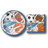 32 Luncheon Napkins 9 Plates Luncheon Plates /& 32 Sports Birthday Party Supplies Pack for Girls Boys Adults -