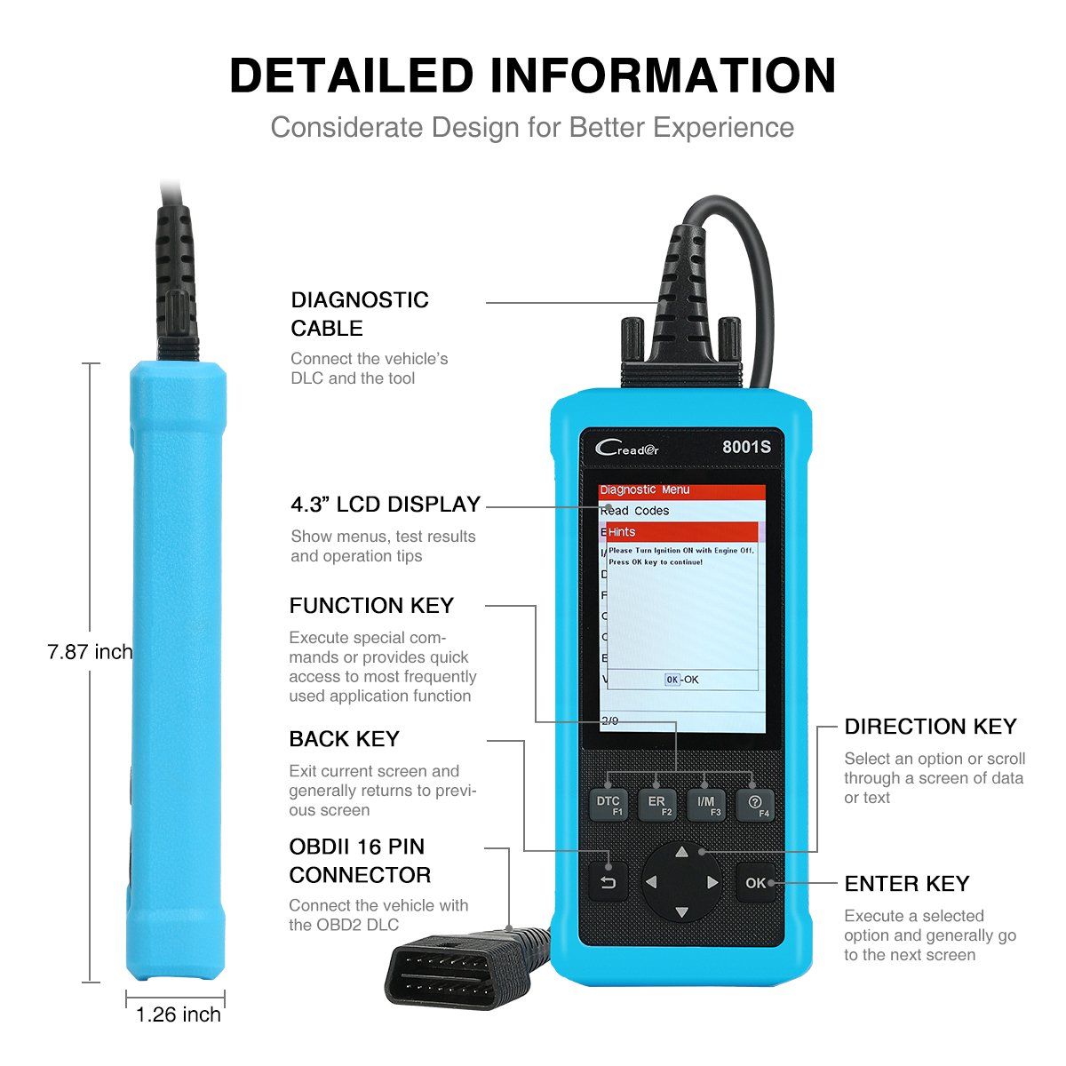 LAUNCH CR8001S Code Reader Oil/EPB/SAS/BMS Reset OBD2 Scanner Scan Tool Testing Engine/Transmission/ABS/Airbag System + TPMS Activation Tool by LAUNCH (Image #7)