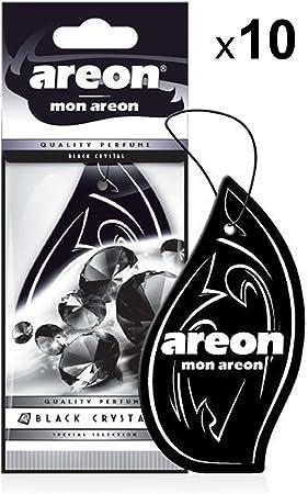 Areon Mon Auto Lufterfrischer Schwarzer Kristall Anhänger Hängend Aufhängen Spiegel Duft Autoduft Schwarz Pappe 2d Wohnung Black Crystal Set Pack X 10 Auto