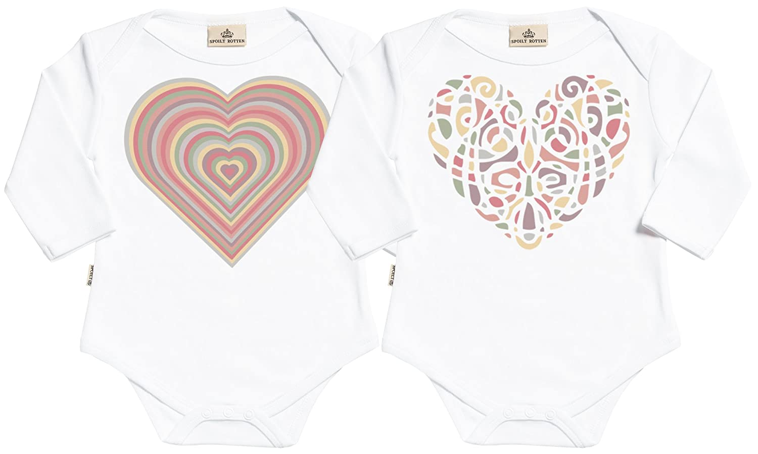 ad43c3d56 Amazon.com  SR - Warm Heart Babygrow Twins Set  Clothing
